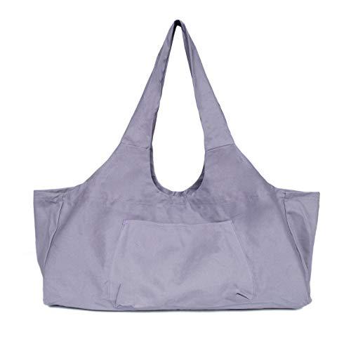 Sac de tapis de yoga zippé, grande capacité pour femmes et hommes, sac de yoga en toile portable Sac de tapis de yoga tout-en-un avec poches