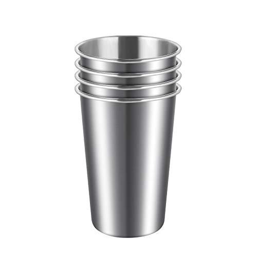 ARKTeK Edelstahl Tassen, 500mL Edelstahl-Trinkbecher wiederverwendbar, plastikfrei, Mehrzweck Kaffeebecher [4 Stück]