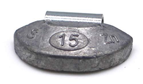 RSF EQUIPMENT · Caja DE 100 Unidades DE CONTRAPESAS para EQUILIBRAR Llantas DE Hierro DE 15 Gramos · PCN-015