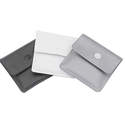 Xhuan 3 Nero Argento Bianco Tasca posacenere Sacchetti Grigi - PVC ignifugo - Privo di odori - Compatto Portatile - Design Semplice e Pulito