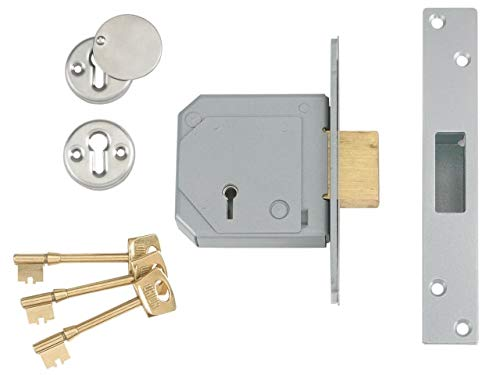 Union Locks 3G114E 5-Lever Mortice Deadlock C-Series 67mm Case - Satin Chrome