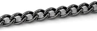 Small, Dainty Cable Link Chain, 10 Meters - Over 30 Feet, 4x3mm (Gunmetal Curb Link)