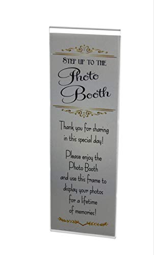 Photo Booth Nook (96 Pack) 2X6 Acrylic Magnetic Frames with Inserts for Photobooth Strips  Refrigerator and Locker Magnet Picture Frame for Wedding  Grad Party  Baby Shower Display- Vertical