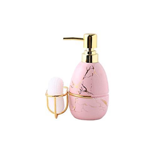 OMYLFQ Dispensadores de loción Loción de Gel de Gel de Ducha de baño nórdico Loción de Botella de Botella de Prensa Botella de jabón de cerámica de Botella de Botella jabón (Color : B)