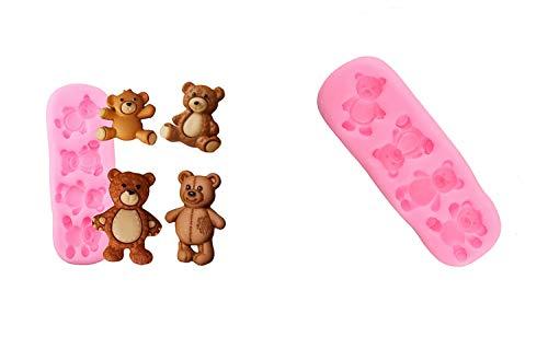 Eva Shop® Premium Süße Baby Bären Silikonform, Resin Gießform Fondant Silikon Backform Kristallform Epoxidharz Form, Gipsform für Handwerk, Tischdekoration, Valentinstag, Hochzeit, Geburtstag usw