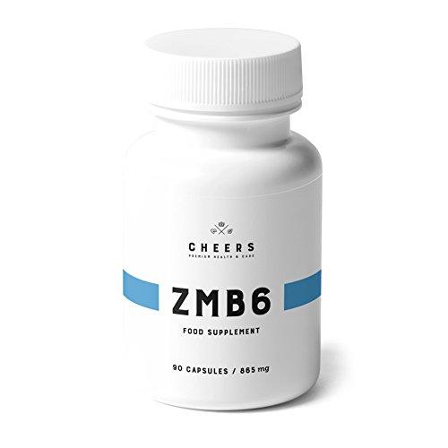 Comprimés de Citrate de Magnésium (320 mg) - ZMB6 - L'absorption la plus élevée dans les Suppléments de Magnésium - Zinc et vitamine B6-90 Capsules Végétaliennes