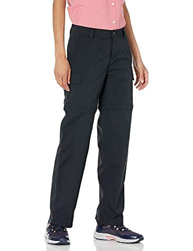 Amazon Essentials Pantaloni da Escursionismo in Tessuto Elasticizzato Convertibile con Cerniera Trekking, Nero, 46
