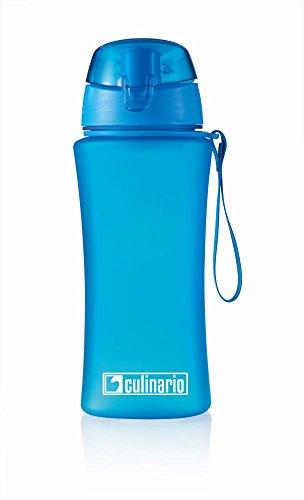 Culinario Trinkflasche ice'Y aus Kunststoff, 500 ml, in blau, mit Silikon-Dichtungsring, Schraubverschluss, Hängeschlaufe, geschmacksneutral