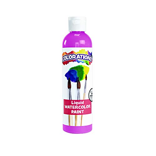 Colorations LWPI Liquid Watercolor Paint, 8 fl oz, Pink, Non-Toxic, Painting, Kids, Craft, Hobby, Fun, Water Color, Posters, Cool Effects, Versatile, Gift