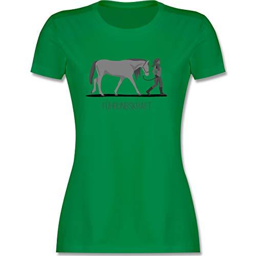 Reitsport - Führungskraft - S - Grün - Westernreiten Damen - L191 - Tailliertes Tshirt für Damen und Frauen T-Shirt