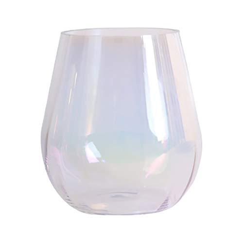 SOIMISS 1 peça de decoração de vaso de vidro nórdico decoração de vaso de casamento (branco)