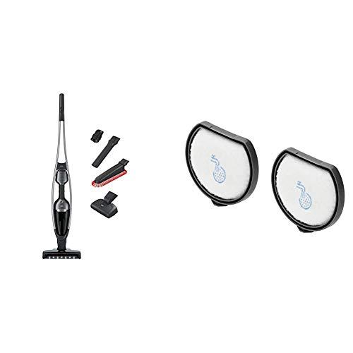AEG QX9-1-ANIM 2in1 Akku-Staubsauger + AEF167 Filterset (beutellos, inkl. Tierhaardüse und Zubehörset, bis zu 55 Min. Laufzeit, freistehend, 180° Drehgelenk, LED-Frontlichter, leise, grau)