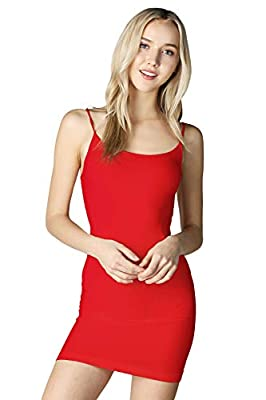 NIKIBIKI Women Seamless Classic Long Camisole, One Size (Red) from NIKIBIKI