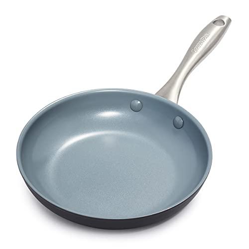 GreenPan Lima Healthy Ceramic Nonstick, Frying Pan/Skillet, 8', Gray