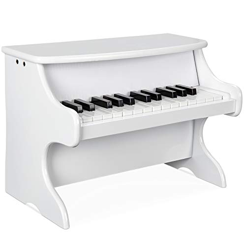 Best Choice Products Toddler Learn-to-Play Mini Piano w/ Key Note Stickers, Music Book - White