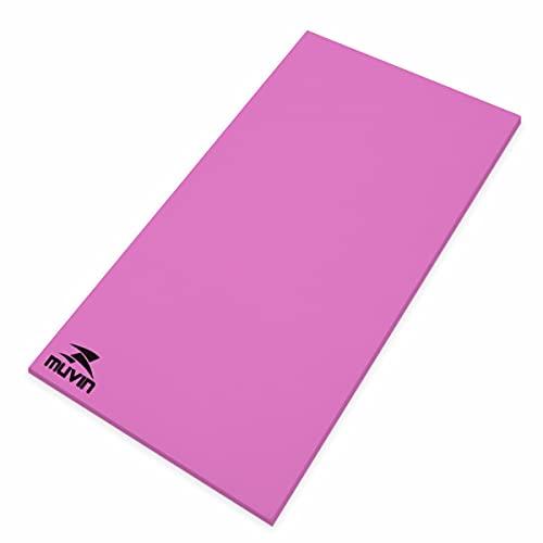 Colchonete Yoga Pilates Eva - 100cm x 50cm x 1cm - Muvin - Pink - 1 cm