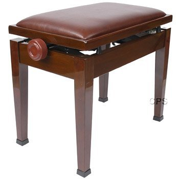 Adjustable Piano Bench Stool with Quick Adjustment in Walnut