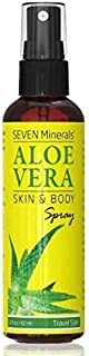 Travel Size Organic Aloe Vera Spray with 100% Pure Aloe From Freshly Cut Aloe Plant, Not Powder - No Xanthan, So It Absorbs Rapidly With No Sticky Residue (2 fl oz)