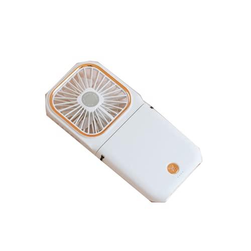CHENXTT Ventilador Nuevo Plegable USB Multifunción Soporte de Teléfono Móvil con Cuello Colgado Mini Ventilador de Escritorio Portátil Blanco 6.5*3.1in