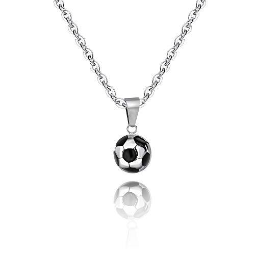 Ranikeer Kette für Herren und Damen, Halskette mit Fußball Anhänger, Personalisierter Unisex Modeschmuck für Männer und Frauen zum Geburtstag Valentinstag