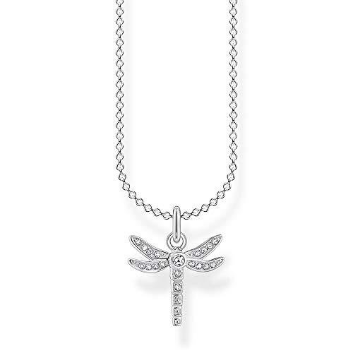 Thomas Sabo Collar para mujer de plata de ley 925, diseño de libélula, 38-45 cm de longitud