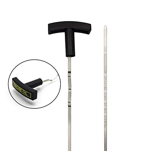 Engine Oil Level Dipstick Indicator Compatible with 1999 2000 2001 2002 2003 Ford F250 F350 F450 F550 Excursion 7.3L Diesel F81Z-6750-DA STAINLESS STEEL