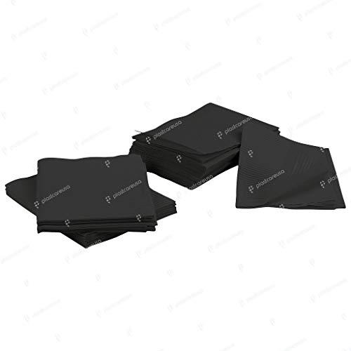 13 x 18 Black Tattoo Piercing Disposable Waterproof Patient Bibs, 125 Pack