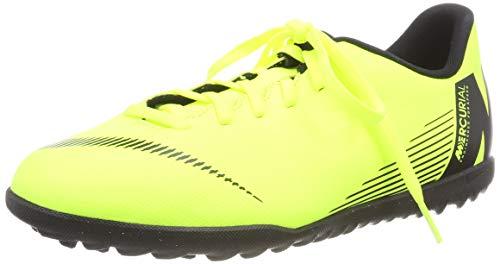 Nike JR Vapor 12 Club GS TF, Botas de fútbol Unisex niño, Multicolor Volt Black 701, 35.5 EU