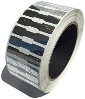 "1,000 Silver Dog Bone Hologram Sticker TamperMax Tamper Evident Security Label Holographic Seal Sticker, Dogbone Size 1.75"" x 0.375"" (44mm x 9mm)."
