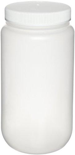 Nalgene 2121-0005 Wide-Mouth Bottle, Polypropylene, Large, 2L
