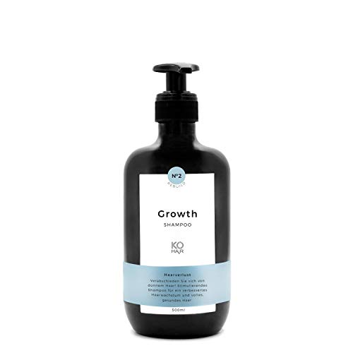 Anti-Haarausfall Shampoo mit Sägepalmextrakt 250 ml oder 500 ml, stimuliert Haarwachstum mit Vitamin B5 und Biotin, für Männer und Frauen, von KÖ-HAIR