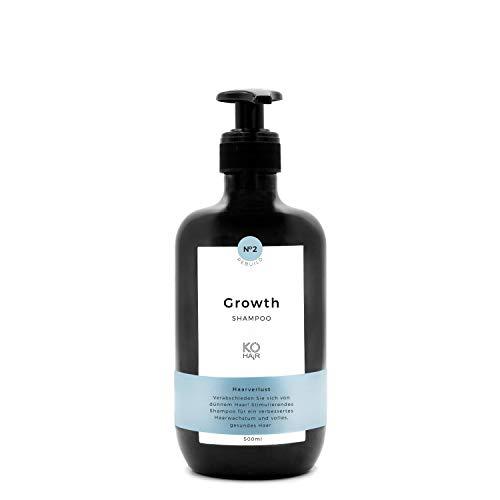 Haarwachstums-Shampoo, reduzierter Haarausfall durch Sägepalmextrakt, stimuliert Haarwuchs mit Vitamin B5 und Biotin, 250 ml|500 ml von KÖ-HAIR Klinik, 500 ml
