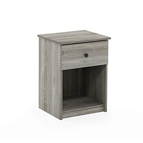 FURINNO Lucca Nightstand, 1-Pack, French Oak Grey