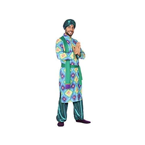 Atosa-56481 Disfraz Hindú, Color Verde, XL (56481)