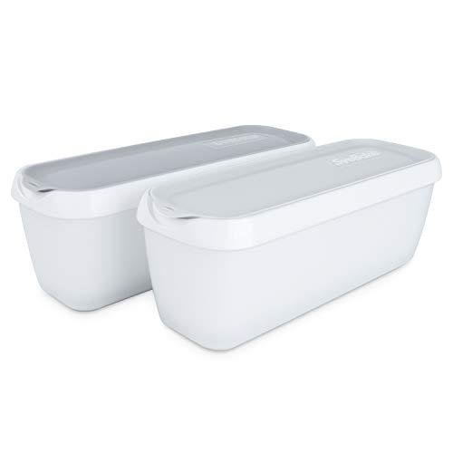 SveBake Eisbehälter für Speiseeis 1,4 Liter - 2er-Set mit Deckeln, Behälter Hausgemachte für EIS Creme