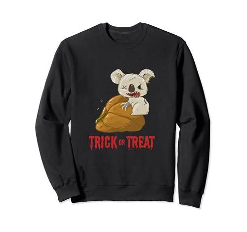 Trick Or Treat Koala Disfraz de Halloween Calabaza podrida Sudadera