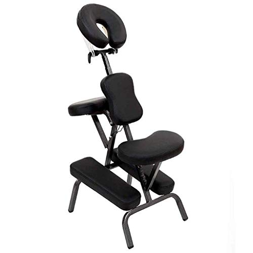 FACAIA Adjustable Massage Chair Ergonomic Kneeling Chair Improve Posture Orthopedic Kneel Seat Neck Pain & Spine Tension Relief Correction Stool (Color :Black)