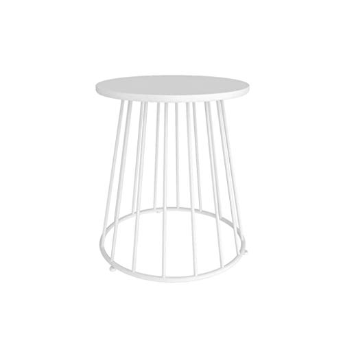 Sofa Side Tables, Balcony Coffee Table, Metal Creativity Small Round Table Small Apartment Bedroom Bedside Table By The Sofa Phone Desk Design Lounge Table Snack Table