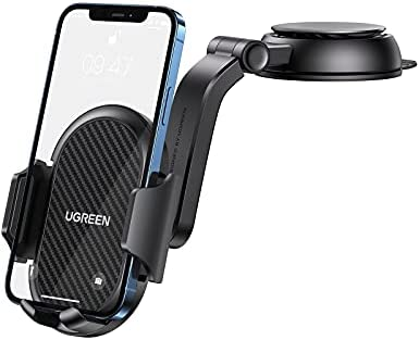 UGREEN Car Phone Mount Dashboard Cell Phone Holder Compatible with iPhone 12 11 Pro XR X XS Max 8 7 6 Plus 6S, Samsung Galaxy S20 S10 S9 S8 Plus Note 10 9 8