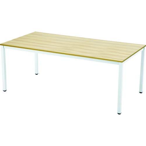 TRUSCO(トラスコ) ミーティングテーブル W1800xD900 ナチュラル天板X白脚 MT1890NA-W