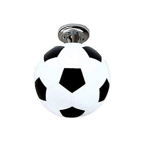 BILYSKEP Moderne Kronleuchter Fußball Schlafzimmerlampen, Jugendlampe Kinderleuchten E27 Kugelform Hängelampen (25cm)