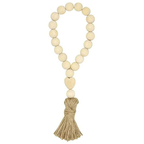 Timagebreze Garland Wooden Beads Garland, Farmhouse Tassel Beads, Suitable for Home Door Handle Christmas Decoration