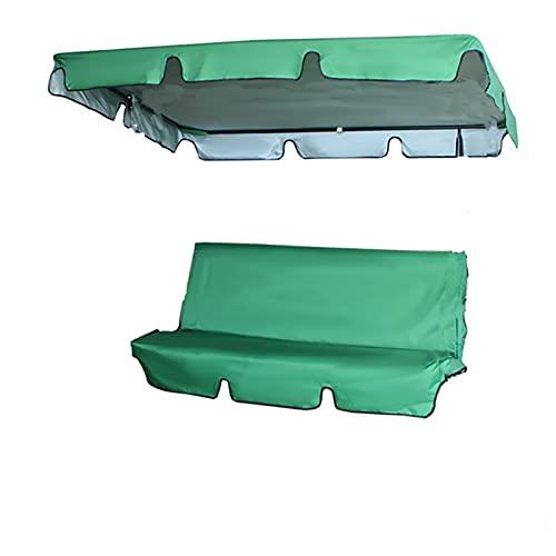 Reemplazo de Dosel de Swing, Swing de 3 Asientos Cojines de reemplazo de Swing Patio Swing Canopy reemplazo de Repuesto Patio Cubiertas de Asiento Impermeable Swing Cubierta de Cubierta,Verde,3XL