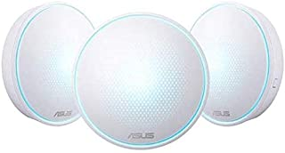ASUS Home Wi-Fi System, Pack of 3 (for large homes), Tri-Band Mesh Networking Wireless AC2200 Routers with AI Protection -...