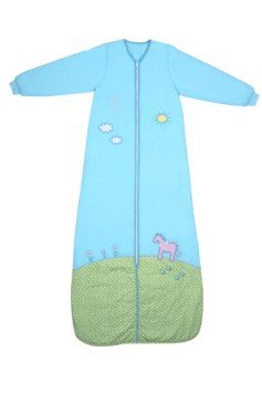 Slumbersac - Saco de dormir para niña (manga larga, para invierno, 3,5 tog, 150 cm, 6-10 años), color turquesa
