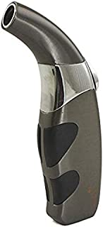 Scorch Torch Refillable Matador Single Jet Flame Butane Torch Cigarette Cigar Lighter (Gun Metal)