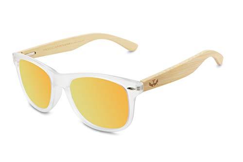 Gafas de Madera Mosca Negra Modelo Mix Fog and Red Wood Sunglasses bambú Bamboo