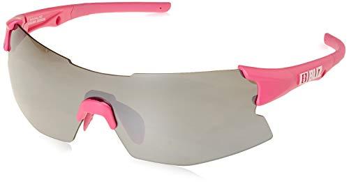 Bliz Tempo M12 Brille für schmale Gesichter Rubber neon pink/Smoke with Silver Mirror 2020 Sonnenbrille