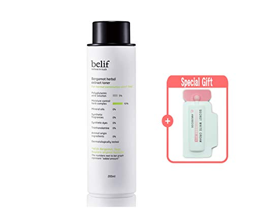 Belif Bergamot Herbal Extract Toner 200 mL/6.75 fl.oz. (normal to combination skin, moisturizes, clear skin)