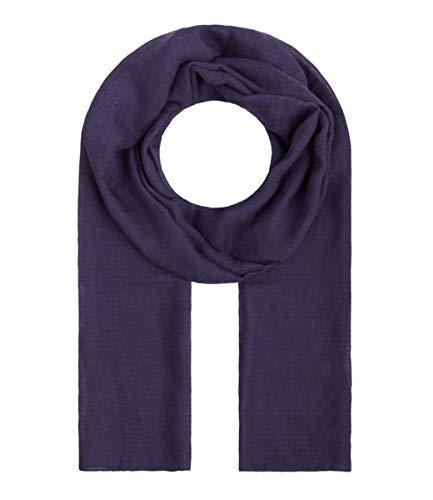 Majea Tuch Lima schmal geschnittenes Damen-Halstuch leicht uni einfarbig dünn unifarben Schal weich Sommerschal Übergangsschal (lila)